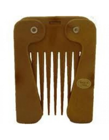 COMBY IMITATION WOOD FOLDING AFRO COMB