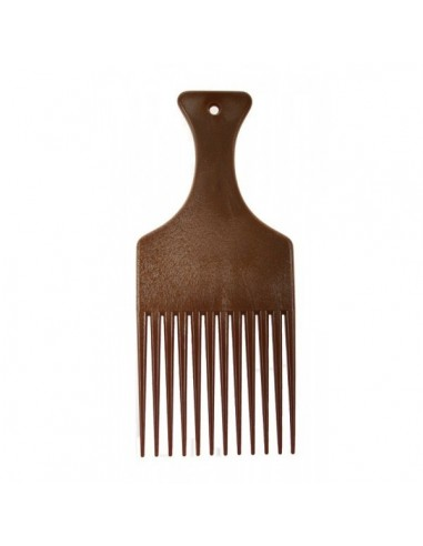 COMBY IMITATION WOOD AFRO COMB