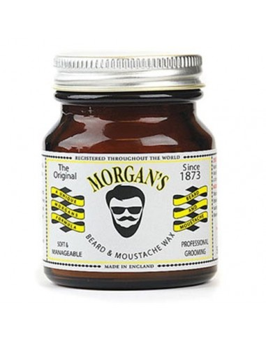 MORGAN'S MOUSTACHE & BEARD WAX 50GR