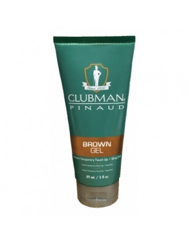 CLUBMAN PINAUD TEMPORARY COLOUR GEL BROWN 89ML