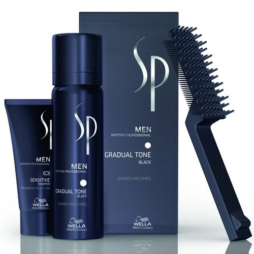 WELLA SP MEN GRADUAL TONE (ΜΑΥΡΟ) - PIGMENT MOUSSE BLACK 60+30ML